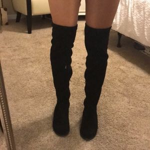 27e8c60a2f5ba Nine West Black Suede Over the Knee Boots